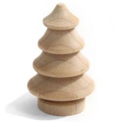 Wooden Natural Tree 50mm 2inch Figurine