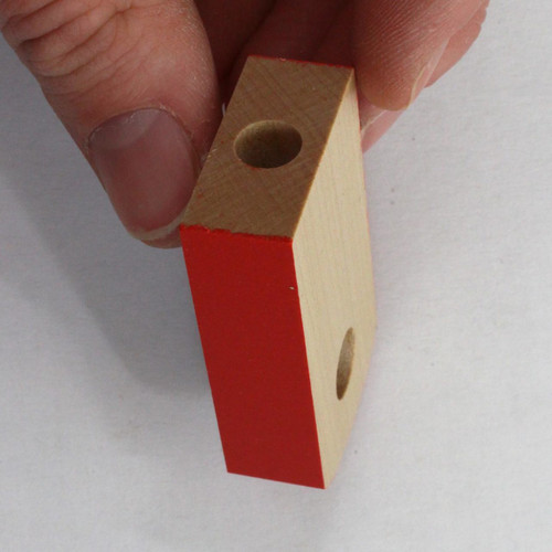 Red Candleholder Replacement Part Base