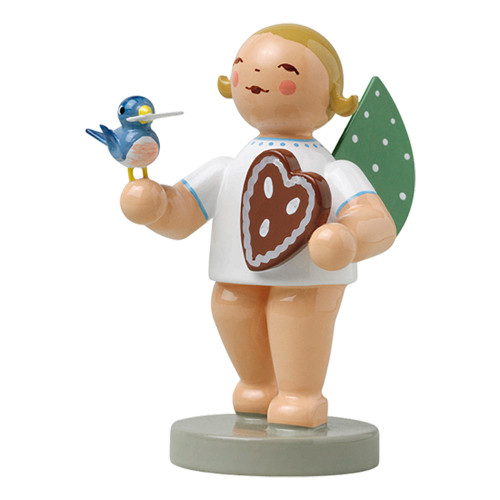 Wendt Kuhn Blonde Angel Heart Bird Figurine FGW650X150