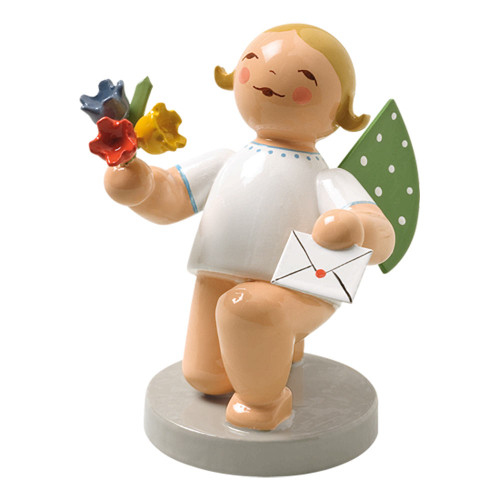 Wendt Kuhn Blonde Angel Flowers Letter Figurine FGW650X153
