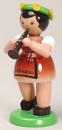 Girl Playing Flute Figurine