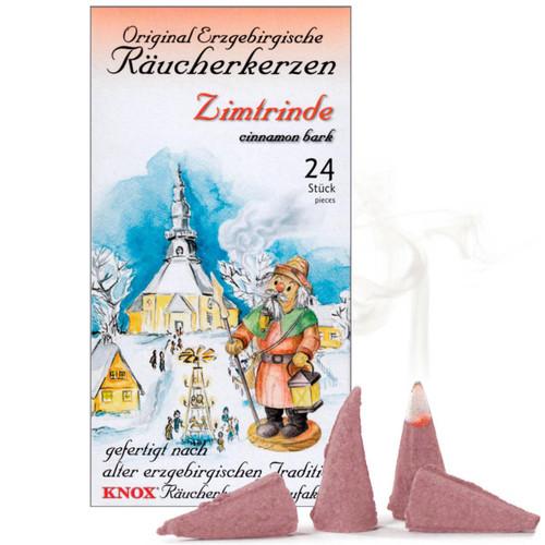 Knox Cinnamon Bark German Incense 24 per Box - Zimtrinde - IND146X0040