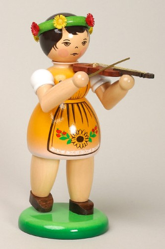 Girl Playing Violin Figurine