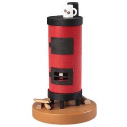 Round Red Oven with Coffee Mug German Smoker SMR370X64
