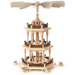 3 Tier Level Nativity Scene German Christmas Pyramid PYD085X597