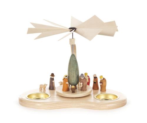 Shepherd and Kings Nativity Scene German Tealight Pyramid PYD085X845