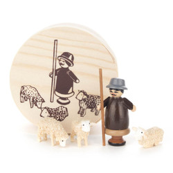 Shepherd and Sheep Flock German Figurine Box Set FGD070X049