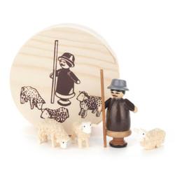 Shepherd and Sheep Flock German Figurine Box Set FGD070X049