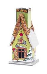Small Metal Cottage Christmas German Smoker SMD146X203020