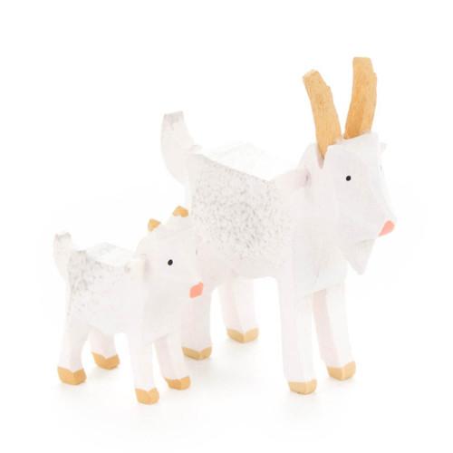 Wooden Mini Goats German Figurine Set FGD076x063