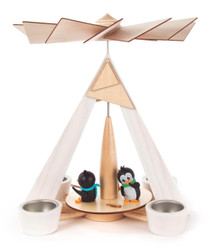 Playful Penguins German Tea Light Pyramid PYD085X885X11