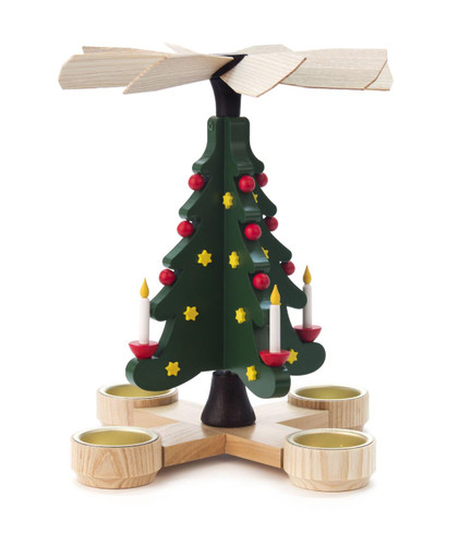Holiday Christmas Tree German Tea Light Pyramid  PYD085X732