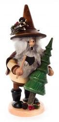 Bearded Gnome with Christmas Tree Incense German Smoker SMD146X0884