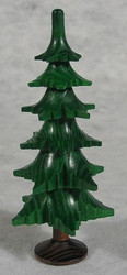 Green Tree Figurine Trunk Six Levels