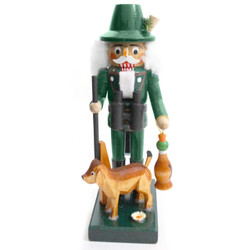 Mini Duck Hunter with Dog German Nutcracker