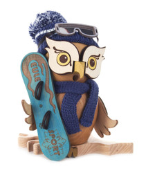 Snowboard Whimsical Owl German Smoker  SMD146X1670X15