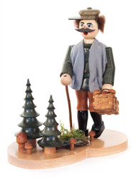 Forest Gathering Mushrooms German Incense Smoker SMD146X1690