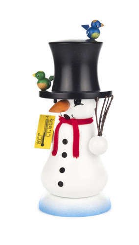 Snowman Freezing Weather with Birds German Smoker SMD146x1255