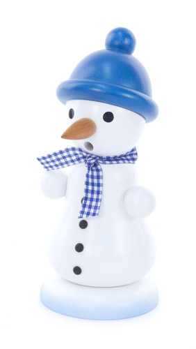 Snowman with Blue Cap German Smoker SMD146X1255X2