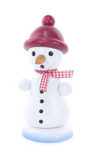 Snowman with Red Cap German Smoker   SMD146X1255X3