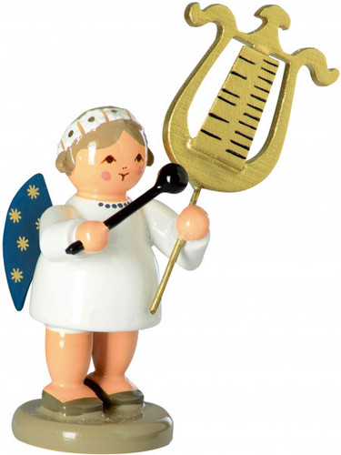 Angel with Chimes Glockenspiel German Figurine  FGD756X43