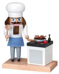 Chef with Smoker Stove German Nutcracker  NCK195X01