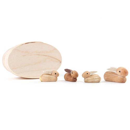 Mini Bunnies Figurines Set