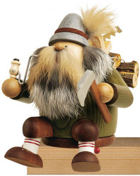Sitting Forest Lumberjack Wood German Smoker SMK216X14