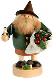 Forest Gnome Mushroom Collector German Smoker SMK216X87