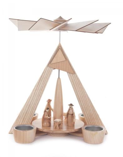 Modern Nativity German Tea Light Pyramid  PYD085X885X1