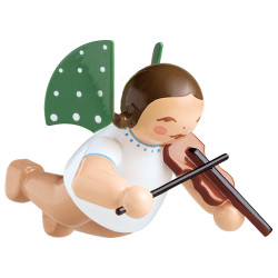 WENDT & KÜHN Flying Angel Playing Violin German Ornament - Brunette