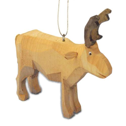 Wooden Reindeer Hand Carved German ORD199x141x4