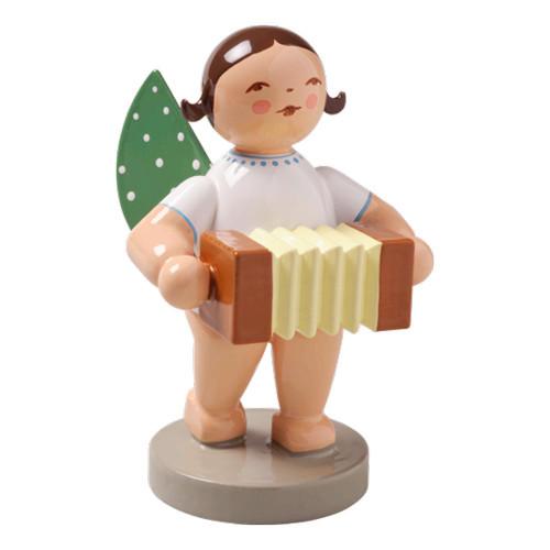 WENDT & KÜHN Brunette Angel Bandoneon Figurine - BRUNETTE