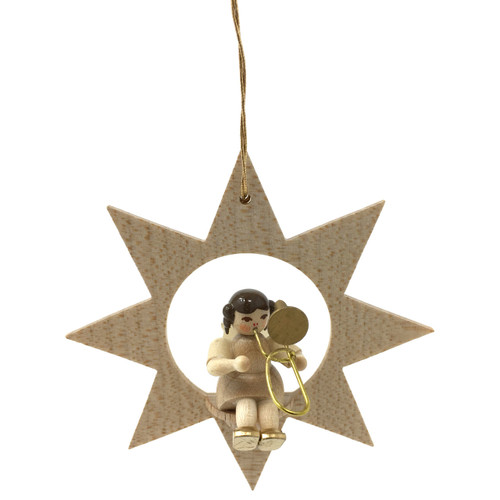 Star Angel Trombone Christmas German Ornament ORR013X34TB