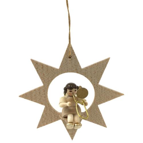 Star Angel Trombone Christmas German Ornament ORR013X34TB