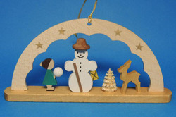 German Snowman Child Ornament ORR136X46