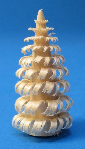 Mini Natural Wood Tree Figurine 4cm