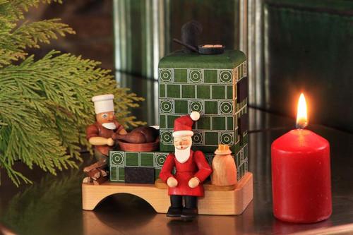 Santa Elf Cooking Fireplace Stove German Smoker SMR370X63