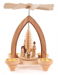 German Christmas Nativity TeaLight Pyramid PYD085X579X4