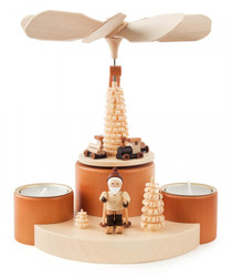 Santa Ski Holiday German Tea Light Pyramid PYD085X920