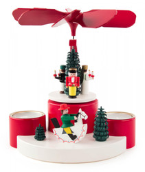 Christmas Holiday Fun German Tea Light Pyramid PYD085X923