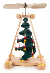 Christmas Tree Holiday Modern German Tea Light Pyramid PYD085X988