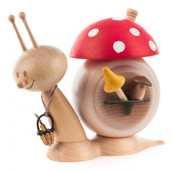 Wooden Snail Good Luck Mushroom German Smoker SMD146X1738
