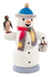 Snowman with Penguin German Smoker SMD146X1267X23
