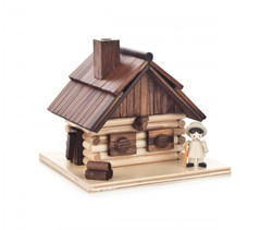 Log Cabin with Hiker German Smoker SMD146X1659X1
