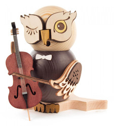 Whimsical Owl with Cello Music German Smoker SMD146X1670X17