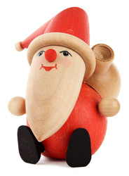 Sitting Santa Sack Wooden German Figurine FGD195X806