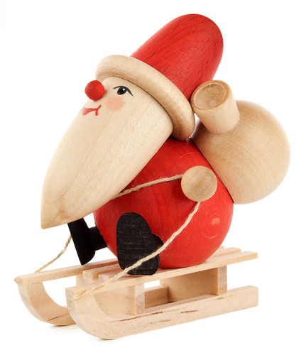 Santa Sled Wooden German Figurine FGD195X808