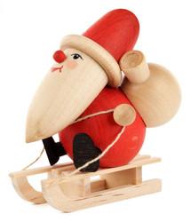 Santa Sled Wooden German Figurine FGD195X808