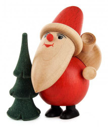 Santa Tree Wooden German Figurine FGD195X811